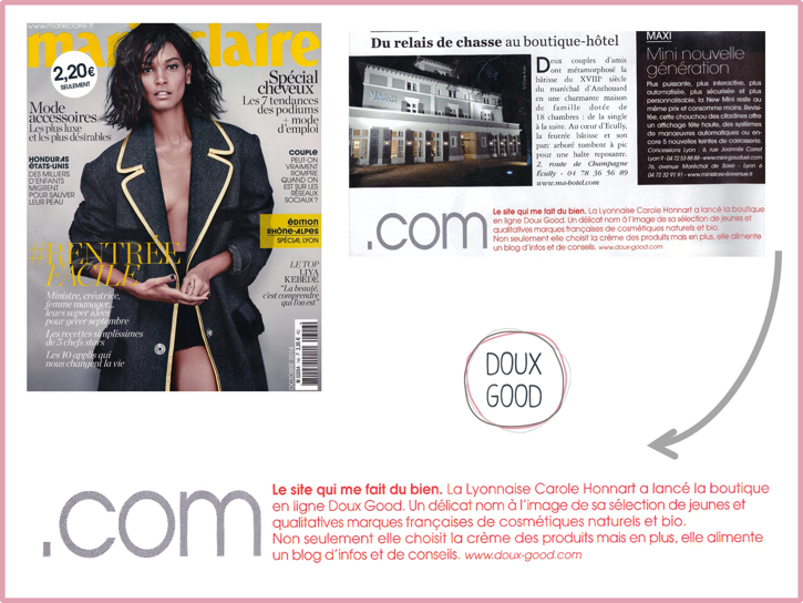 Doux Good dans Marie-Claire - Sept 2014