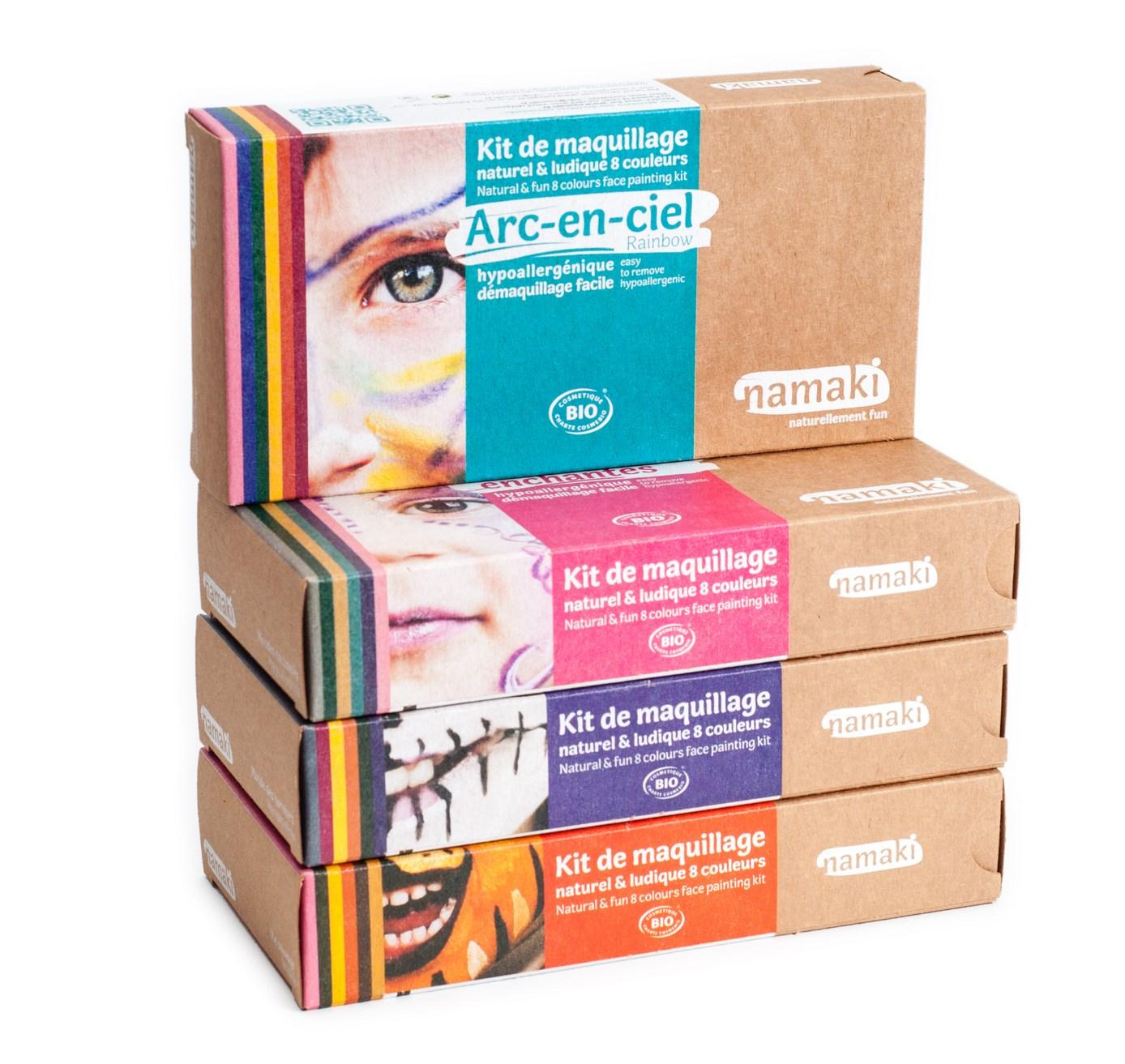 Gamme de maquillage déguisement bio Namaki - 8 couleurs