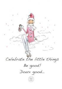Doux Good, boutique en ligne de cosmétiques bio et naturels fête Noël avec des idées cadeaux nombreuses et variées