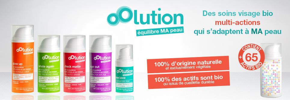 100% d'ingrédients naturels dans la gamme de la nouvelle marque bio oOlution