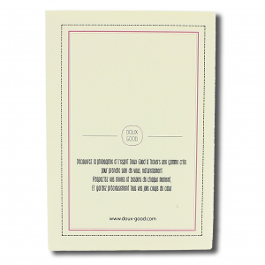 Carnet Doux Good - dos du Notes book