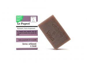 le pagnol- savon saponifié à froid, aux huiles essentielles de Lavandin, relaxantes