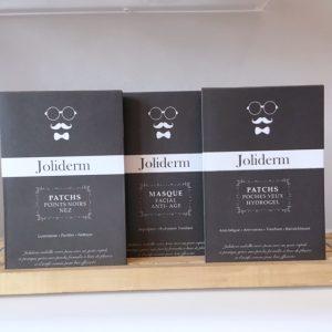 gamme de patchs et masque Joliderm dédiés aux hommes
