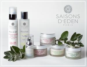 les cosmétiques bio de la marque Saisons d'Eden sur Doux Good