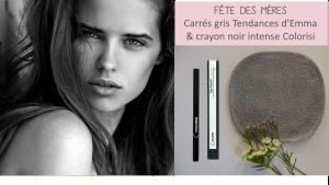 Printemps sur Doux Good - Offre exclusive carrés démaquillants gris et crayon noir Colorisi