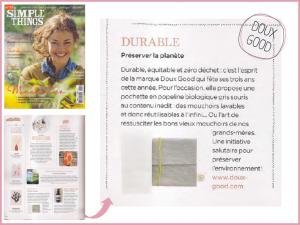 Les mouchoirs Doux Good en coton bio présentés par Simple Things