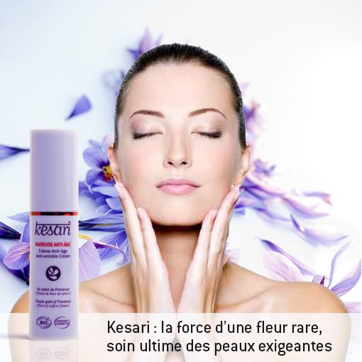 Kesari Radieuse anti-âge, avec la force d'une fleur rare le safran