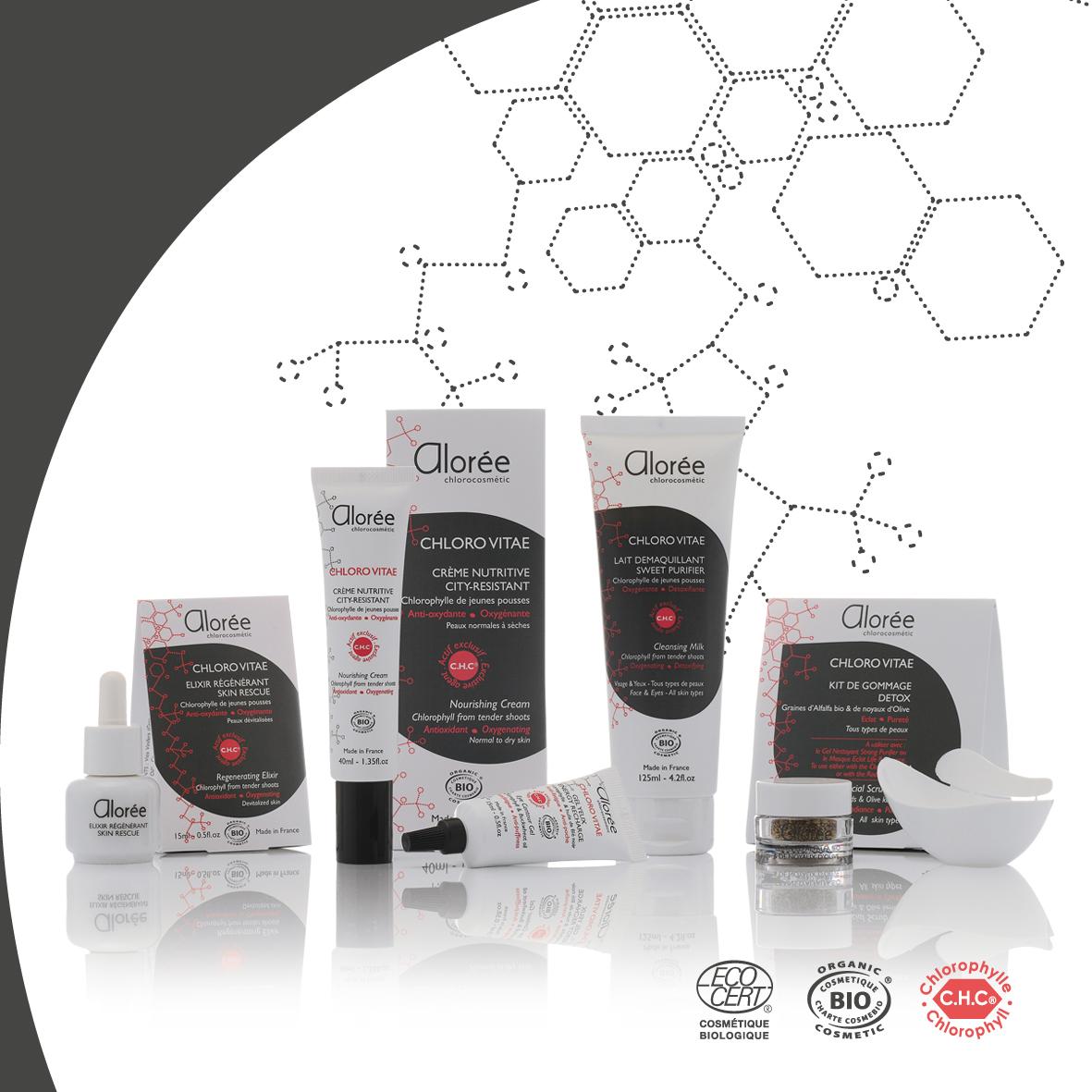Découvrez la gamme de soins du visage Alorée à la chlorophylle active sur Doux Good, cosmétiques bio