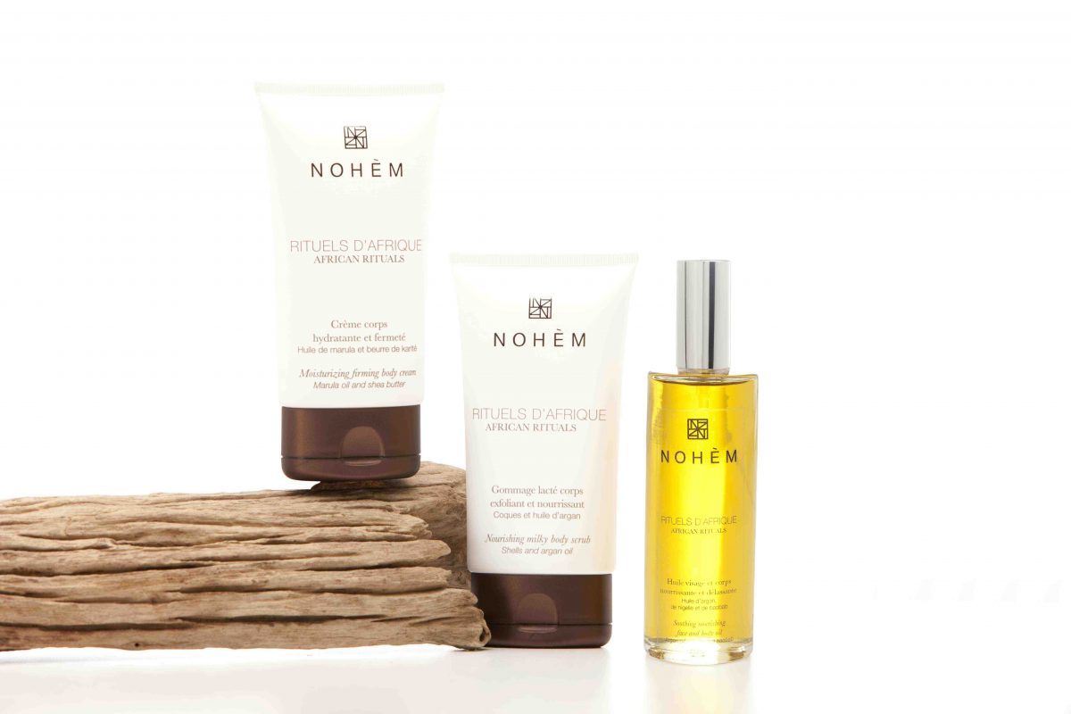 La Gamme Esprit d'Afrique, est une gamme de soins naturels pour le corps de la marque Nohèm