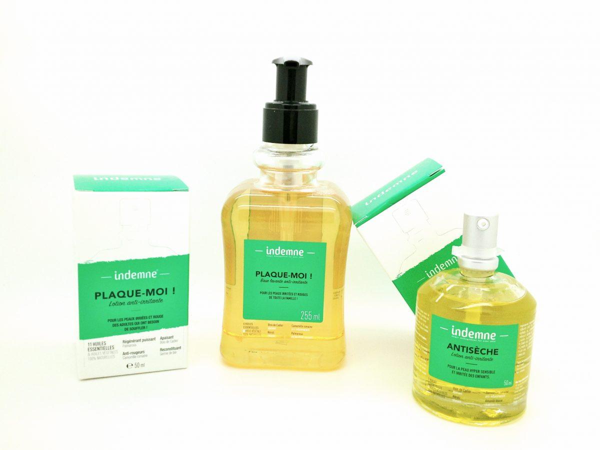 3 soins naturels pour la maladie de peau irritée : Lotion et base lavante Plaque-moi et lotion Antisèche pour les enfants