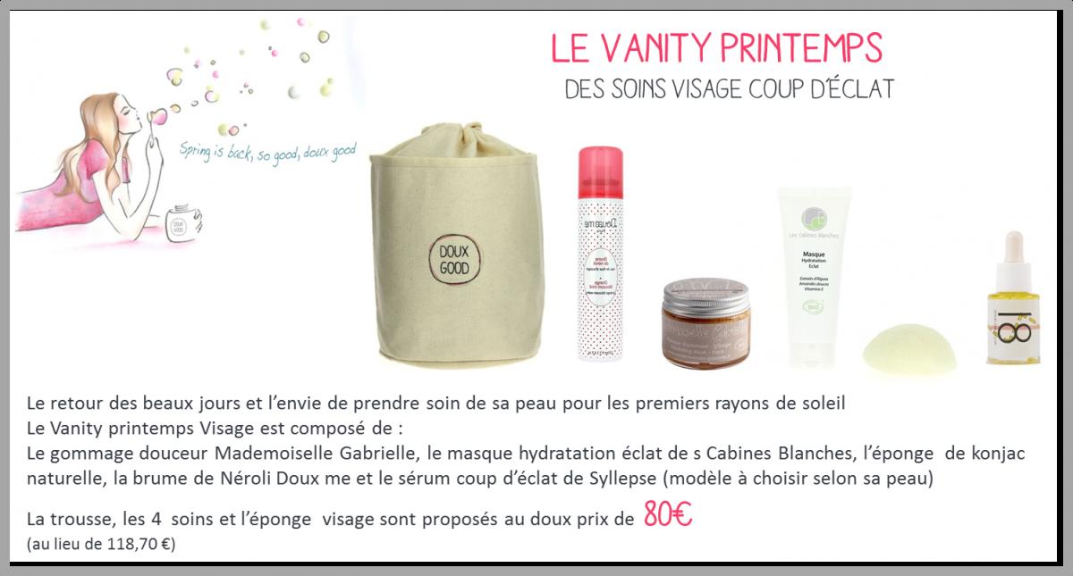 Vanity Printemps Doux Good soins visage bio