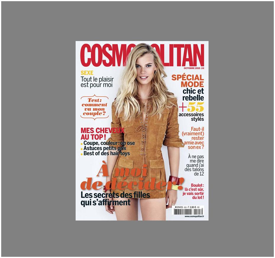 Cosmopolitan, dossier spécial cheveux avec le shampoing sans sulfate, solide et bio, Secrets de Provence, en vente sur Doux Good