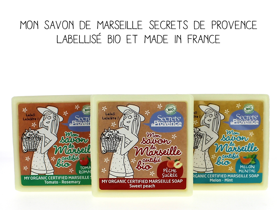 Mon savon de Marseille Secrets de Provence, labellisé bio et Made in France