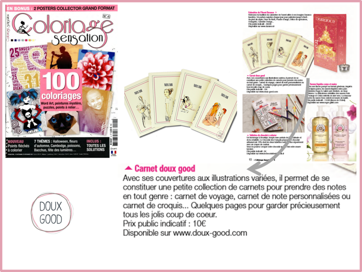 Carnets Doux Good sur Coloriage Sensation - Sep à Dec 2015