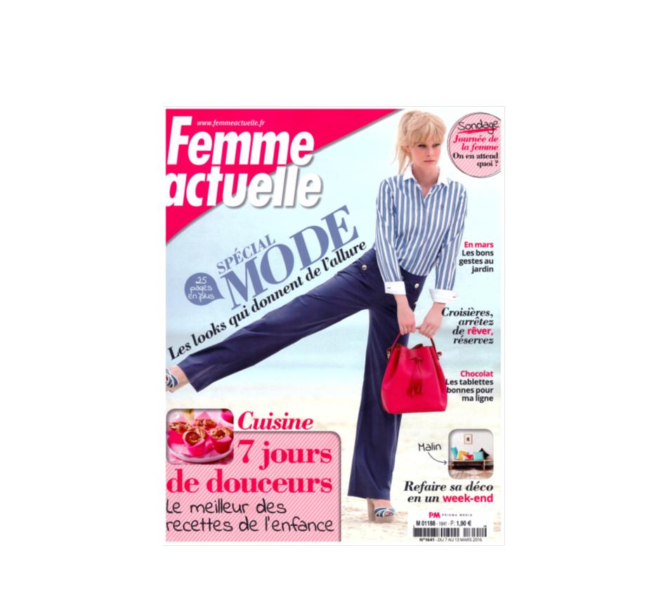 Femme actuelle - 7 mars 2016 - Déodorant crème Clémence et Vivien sur Doux Good