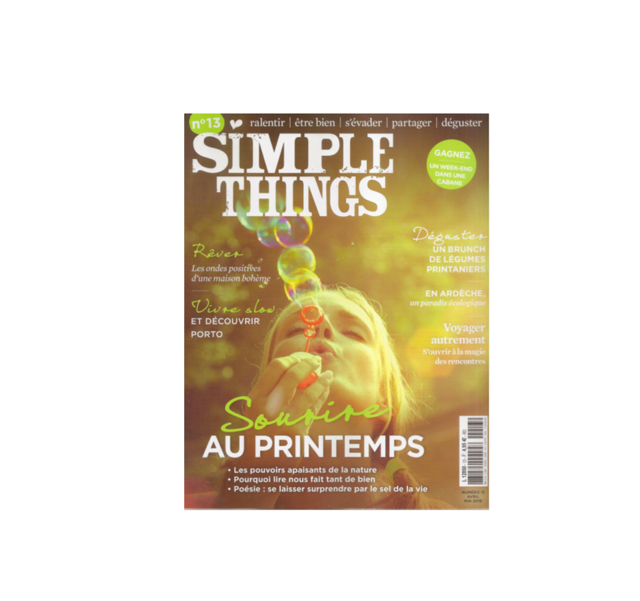 Simple Things - Les carnets Doux Good - Avril 2016
