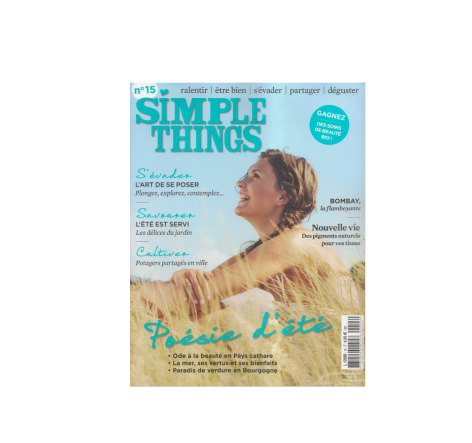 Simple Things - Le baume déodorant Clémence et Vivien - Août-septembre 2016