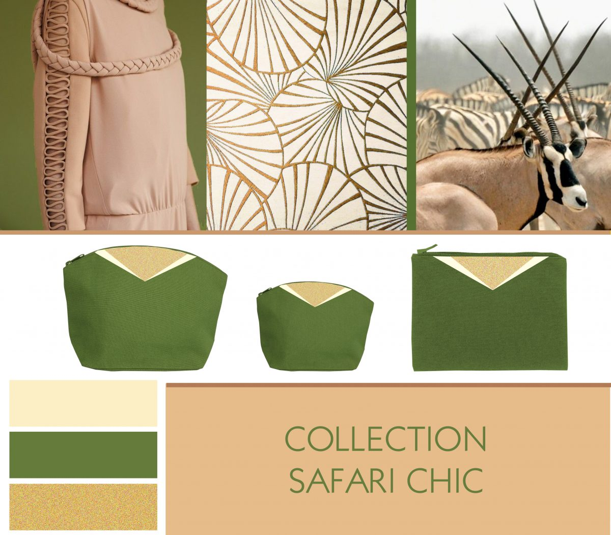 Collection safari chic-Mouettes Vertes