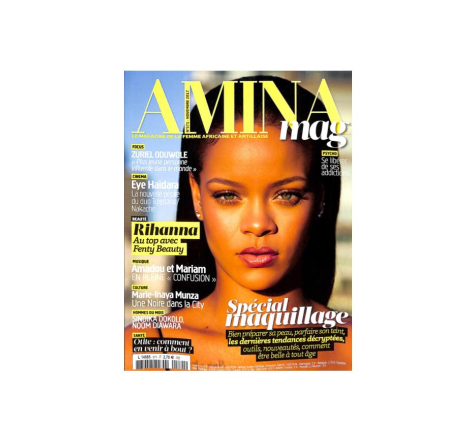 Les carrés gris dans le dossier spécial maquillage de Amina
